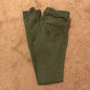 Olive green skinny jeans